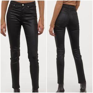 High Waist Coated Skinny Jeans